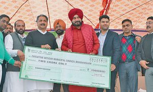 Sidhu inaugurated new bus stand