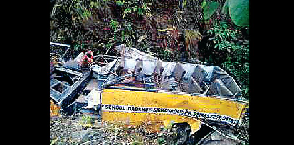 Himachal, School, Bus, Collapses, 6 children Killing, Including Driver