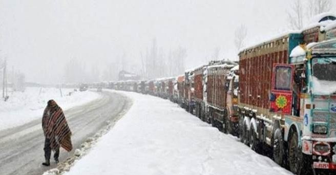 Kashmir Highway Closed, After Heavy Snowfall