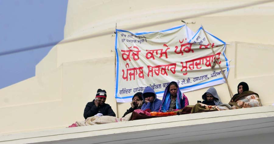 Nurses, Climbed, Roof, Demanding, Regularization