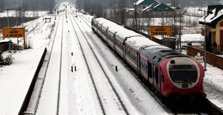Train Services Remain Suspended For Third Day In Kashmir