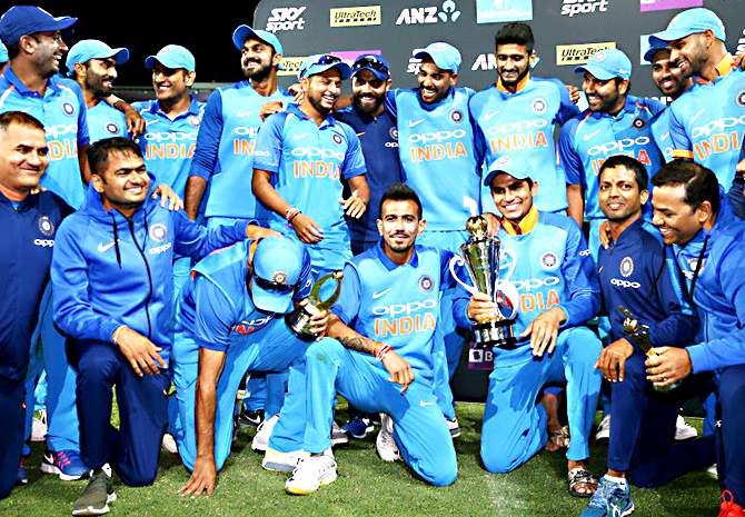 India win 4-1 series victory over Rayudu-Pandya