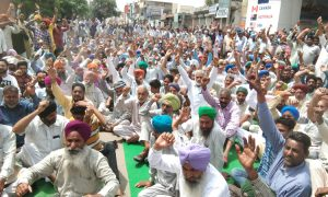 Truck Operators, Strongly, Protest, Sangrur