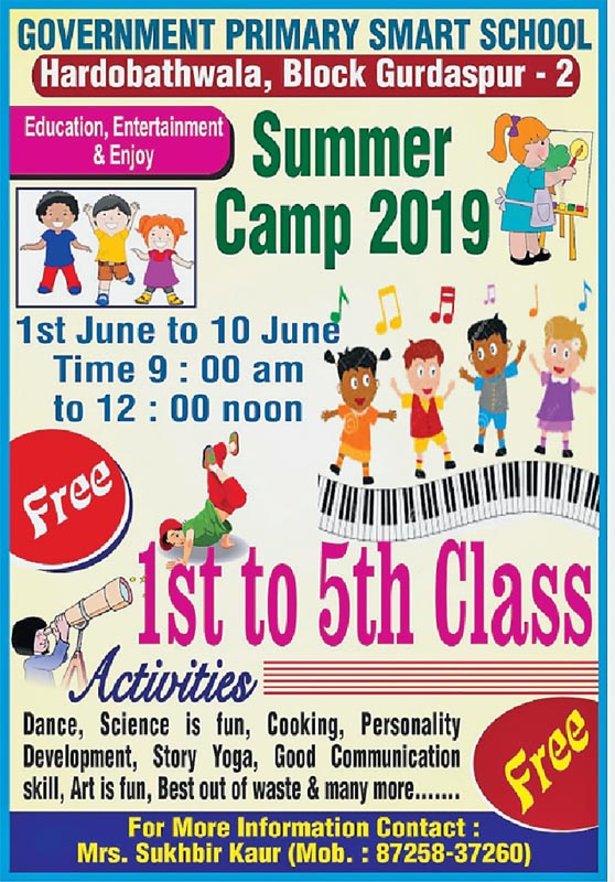 Summer camp, Promote, Government, Schools