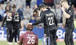 Braves Beat, West Indies, Despite Hundreds