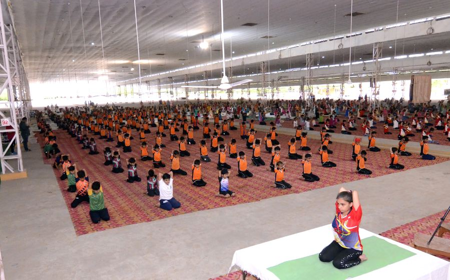 5th International Yoga Day, Celebrated, Shah satnam ji dham, Sirsa, Dera Sacha Sauda