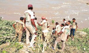 Many Villages, with the Help, Dera Pilgrims, Hit the Water