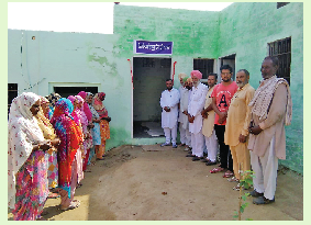 House, Built , Sangat ,Handed over, Family \
