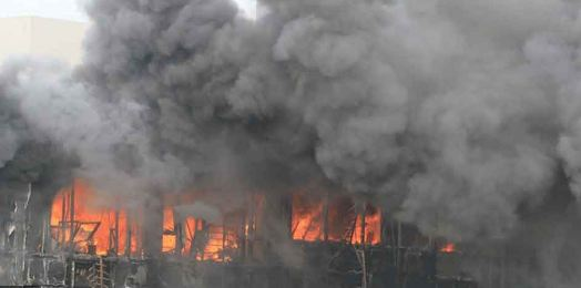 Fire, Factory. Four, Killed
