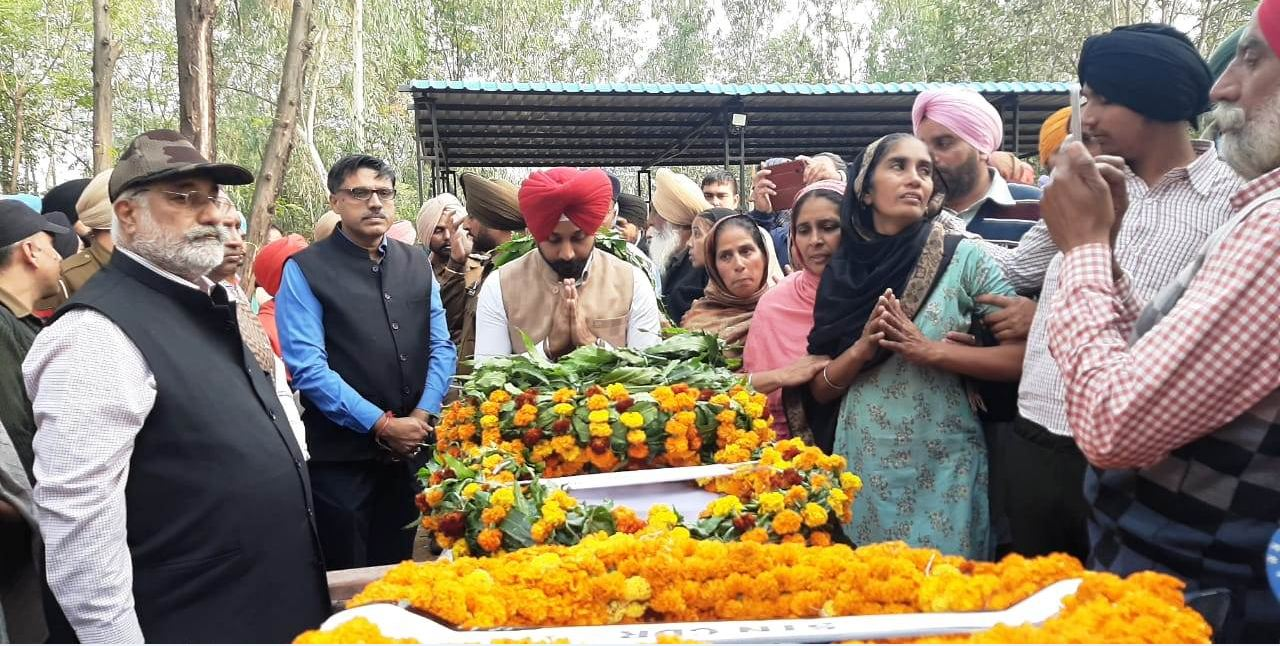 Shaheed Manpreet Singh , Government, Honors, Funeral