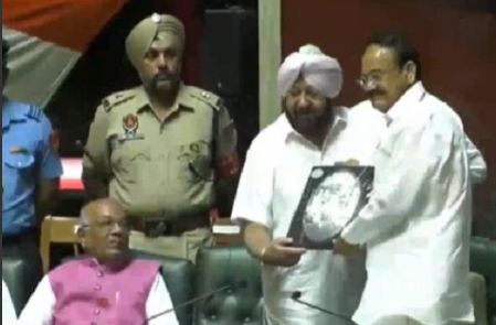 Remembrance symbols, presented, celebrities, including, Naidu