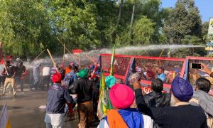 Lathi charge,Protesters ,DC office