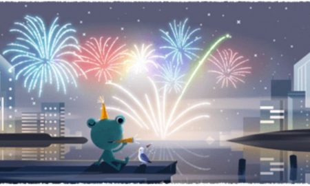 Doodle, Google, New Year, Welcome