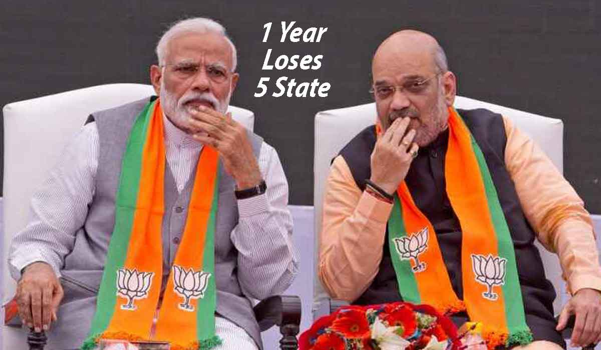 BJP, Loses, 5 States, One Year