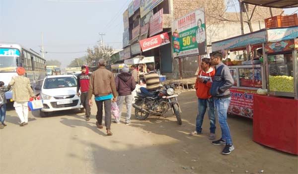 Illegal occupation traffic problems mansa