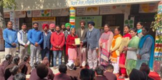 Honor Rajveer Kaur on passing the Stage I exam of the NTSE